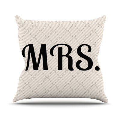 MRS Throw Pillow Size: 26 H x 26 W x 5 D