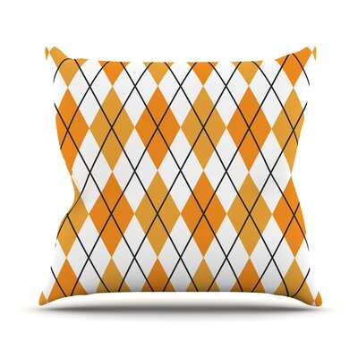 Argyle Throw Pillow Size: 18 H x 18 W x 3 D, Color: Day