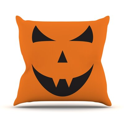 Pumpkin Trick Throw Pillow Size: 16 H x 16 W x 3 D