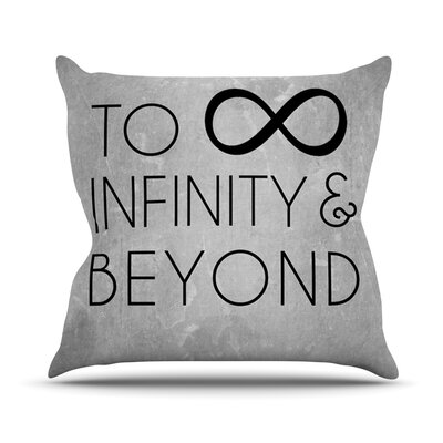 To Infinity and Beyond Throw Pillow Size: 26 H x 26 W x 5 D