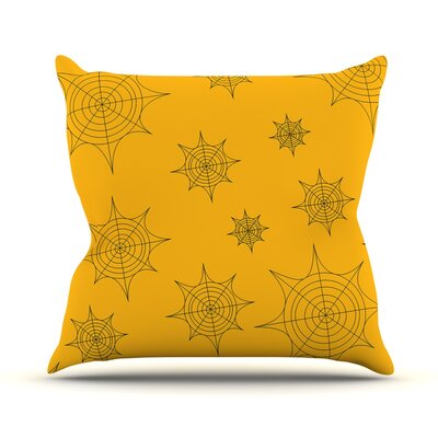 Mini Webs Throw Pillow Size: 16 H x 16 W x 3 D, Color: Orange