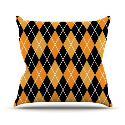 Argyle Throw Pillow Size: 18 H x 18 W x 3 D, Color: Night