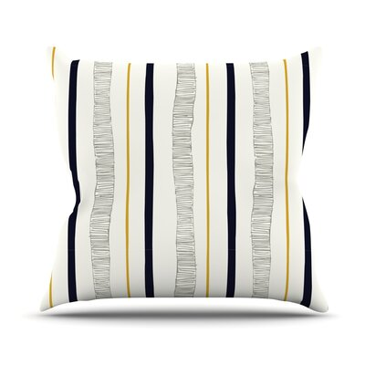 Textured Stripes by Laurie Baars Abstract Throw Pillow Size: 26 H x 26 W x 5 D