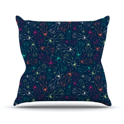 Fireflies Midnight Garden by Laura Escalante Throw Pillow Size: 26 H x 26 W x 5 D
