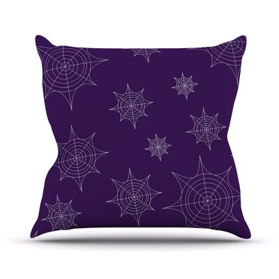 Mini Webs Throw Pillow Size: 16 H x 16 W x 3 D, Color: Purple