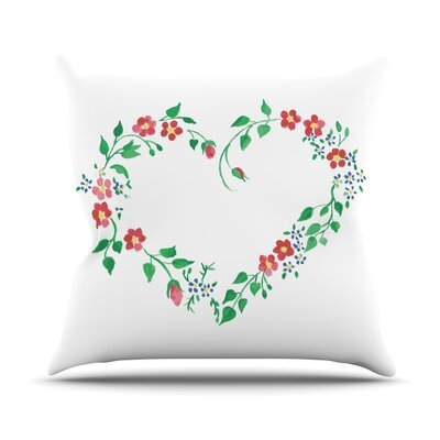 Heart by Louise Throw Pillow Size: 26 H x 26 W x 5 D