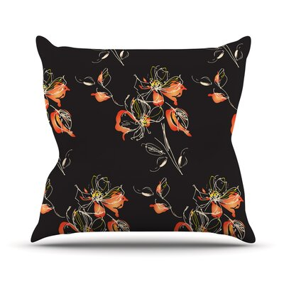 Blackflower by Louise Throw Pillow Size: 26 H x 26 W x 5 D