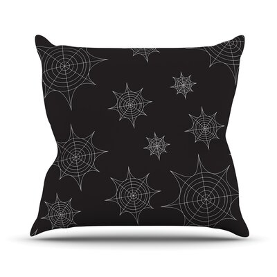 Mini Webs Throw Pillow Size: 18 H x 18 W x 3 D, Color: Black
