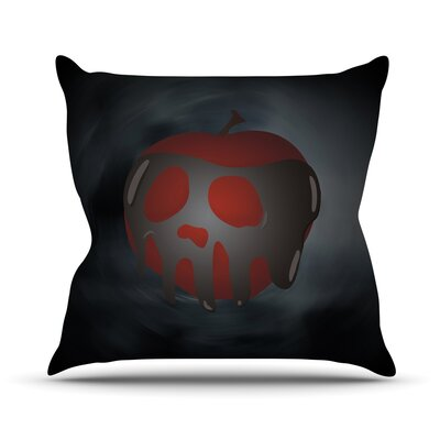 One Last Bite Poison Apple Throw Pillow Size: 18 H x 18 W x 3 D