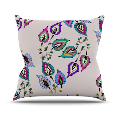 Leave by Louise Throw Pillow Size: 16 H x 16 W x 3 D