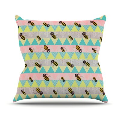Little Bee by Louise Machado Chevron Throw Pillow Size: 20 H x 20 W x 4 D