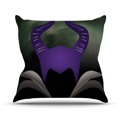 Dark Fairy Throw Pillow Size: 26 H x 26 W x 5 D