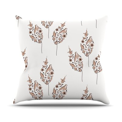 Pattern by Louise Flower Throw Pillow Size: 16 H x 16 W x 3 D
