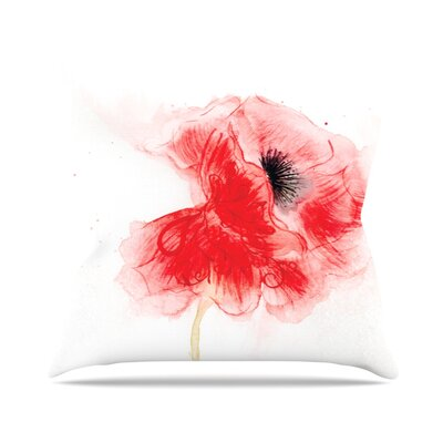 Poppy by Louise Floral Throw Pillow Size: 16 H x 16 W x 3 D