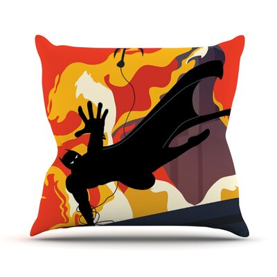 Prodigal Son by Kevin Manley Batman Fire Throw Pillow Size: 20 H x 20 W x 4 D