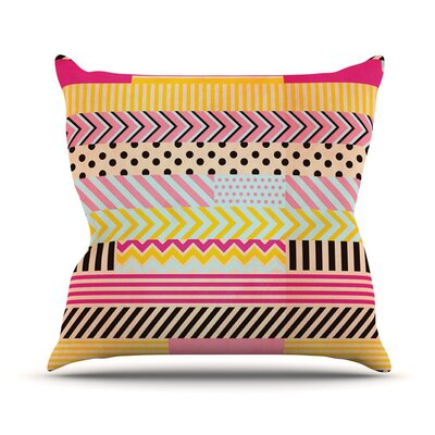 Decorative Tape by Louise Machado Throw Pillow Size: 16 H x 16 W x 3 D