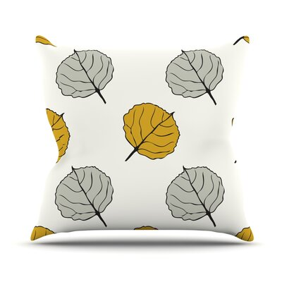 Quaking Leaf by Laurie Baars Throw Pillow Size: 16 H x 16 W x 3 D