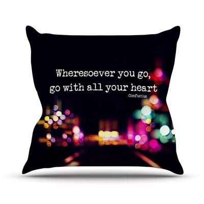 Road Trip by Ingrid Beddoes Throw Pillow Size: 26 H x 26 W x 5 D