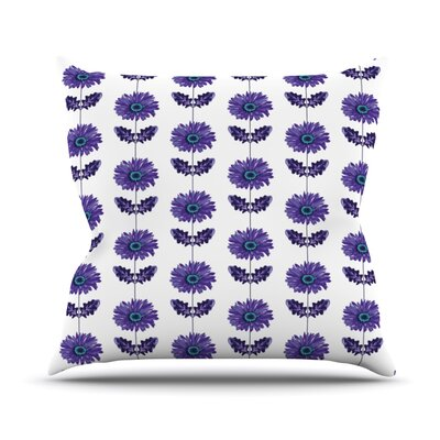 Gerbera by Laura Escalante Flower Throw Pillow Size: 20 H x 20 W x 4 D, Color: Purple