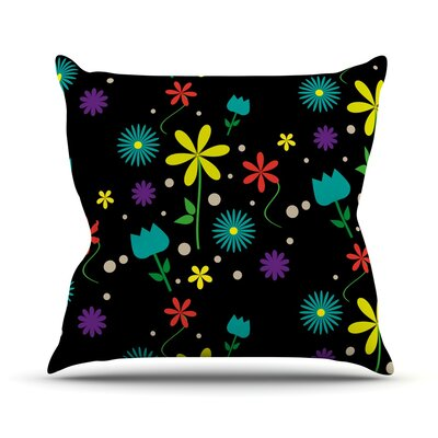 Flower I by Louise Throw Pillow Size: 26 H x 26 W x 5 D