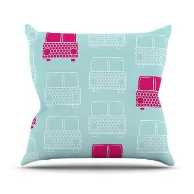 Beep Beep by Michelle Drew Throw Pillow Size: 18 H x 18 W x 3 D