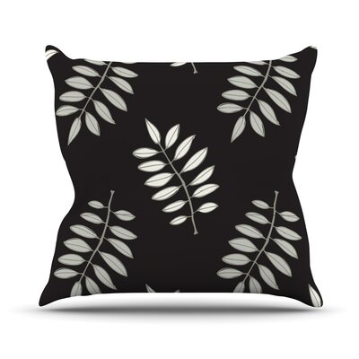 Pagoda Leaf by Laurie Baars Floral Illustration Throw Pillow Size: 18 H x 18 W x 3 D