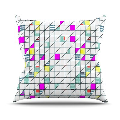 Michelle Drew Geometry Abstract Throw Pillow Size: 26