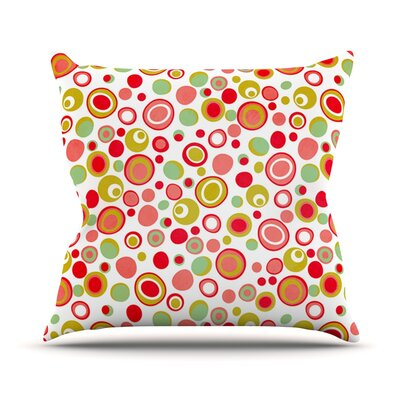 Bubbles by Louise Machado Warm Throw Pillow Size: 26 H x 26 W x 5 D