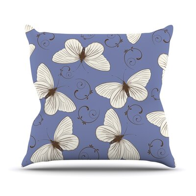 Butterflies by Louise Throw Pillow Size: 16 H x 16 W x 3 D