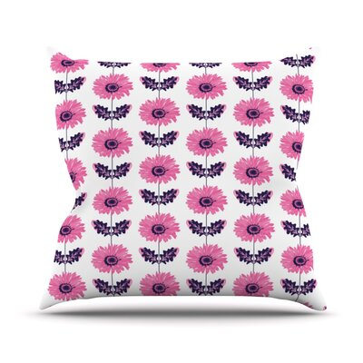 Gerbera by Laura Escalante Flower Throw Pillow Size: 16 H x 16 W x 3 D, Color: Pink