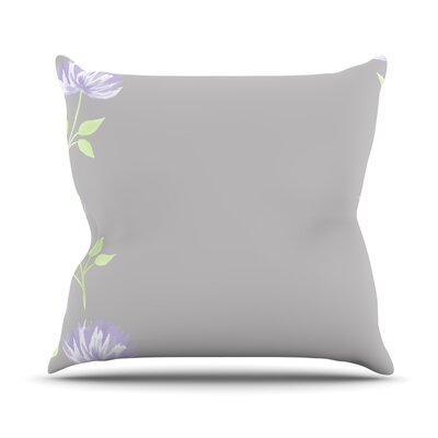 Flower II by Louise Throw Pillow Size: 20 H x 20 W x 4 D