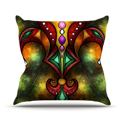 Fleur De Lis by Mandie Manzano Warm Throw Pillow Size: 18 H x 18 W x 3 D