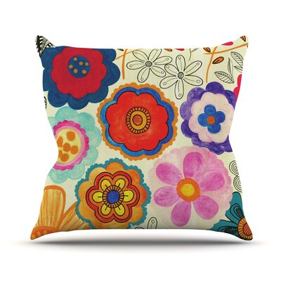 Charming Floral by Louise Machado Throw Pillow Size: 18 H x 18 W x 3 D