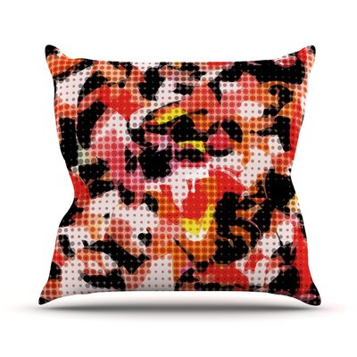 Camouflage Grid by Matthias Hennig Throw Pillow Size: 26 H x 26 W x 5 D