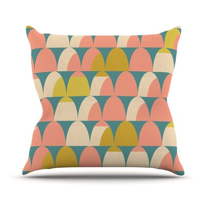 Scallops by Michelle Drew Throw Pillow Size: 18 H x 18 W x 3 D