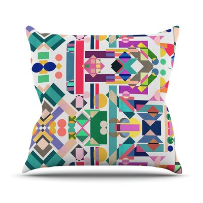 Geometry 2B by Mareike Boehmer Rainbow Abstract Throw Pillow Size: 18 H x 18 W x 3 D
