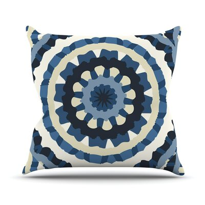 Ribbon Mandala by Laura Nicholson Throw Pillow Size: 26 H x 26 W x 5 D