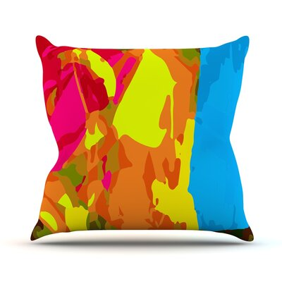 Colored Plastic by Matthias Hennig Throw Pillow Size: 26 H x 26 W x 5 D