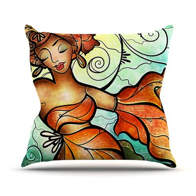 Cubana by Mandie Manzano Dancing Throw Pillow Size: 26 H x 26 W x 5 D