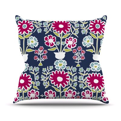 Turkish Vase by Laura Nicholson Throw Pillow Size: 16 H x 16 W x 3 D