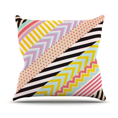 Diagonal Tape by Louise Machado Geometric Throw Pillow Size: 20 H x 20 W x 4 D