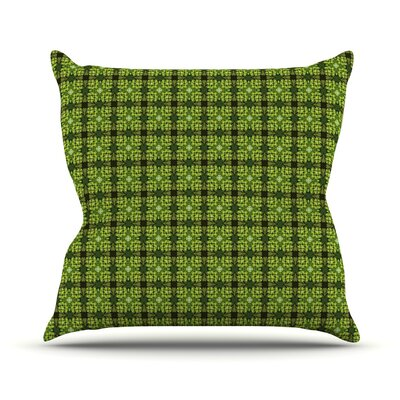 Floral by Matthias Hennig Floral Geometric Throw Pillow Size: 20 H x 20 W x 4 D