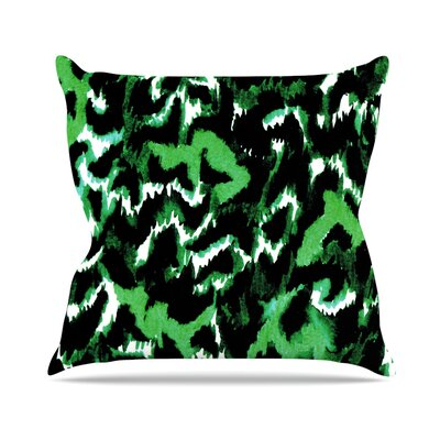 Wild at Heart by Ebi Emporium Throw Pillow Size: 18 H x 18 W x 3 D, Color: Green