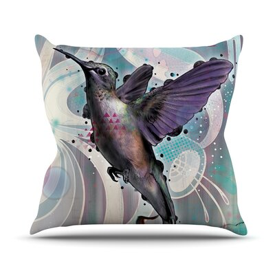Reaching by Mat Miller Hummingbird Throw Pillow Size: 16 H x 16 W x 3 D