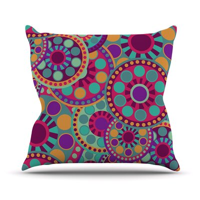Valencia by Nika Martinez Throw Pillow Size: 18 H x 18 W x 3 D