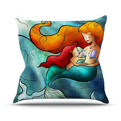I Remember Love by Mandie Manzano Mermaid Throw Pillow Size: 16 H x 16 W x 3 D