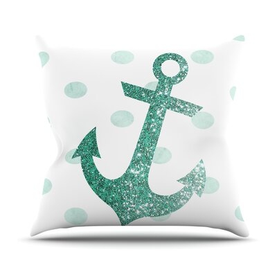Glitter Anchor by Nika Martinez Throw Pillow Size: 26 H x 26 W x 5 D