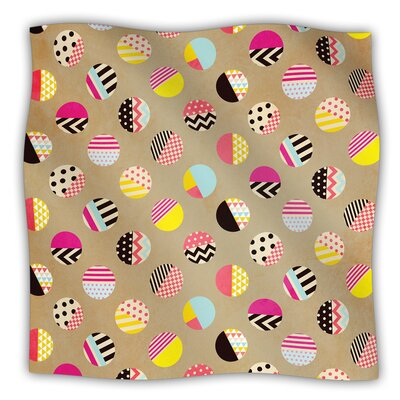 Fun Circle by Louise Machado Fleece Throw Blanket Size: 60 H x 50 W x 1 D