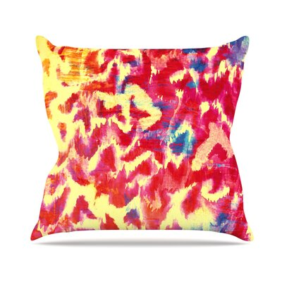 Wild at Heart by Ebi Emporium Throw Pillow Size: 26 H x 26 W x 5 D, Color: Pink