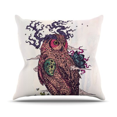 Regrowth by Mat Miller Natural Owl Throw Pillow Size: 26 H x 26 W x 5 D